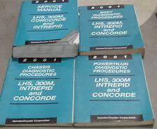 2001 LHS 300M Concorde Intrepid OEM Service Shop Manual + Diagnostics 4-Vol Set