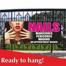 Nails Vinyl Banner Mesh Banner Sign Manicure Pedicure Waxing Beauty Salon