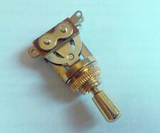 Genuine Epiphone 3 Way Toggle Switch GOLD & GOLD Tip for Gibson Import Guitar