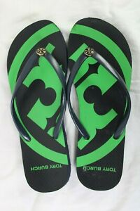 Tory Burch PVC Flip Flop Flops Emory Thong Flat Sandals Rare 10.5
