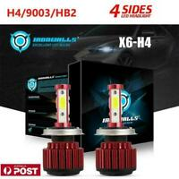 2X H4 HB2 9003 LED Headlight Kit 200W 24000LM Conversion Bulbs Hi-Lo Beam 6500K