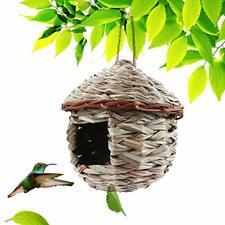 Kimdio Bird House,Winter Bird House for Outside Hanging,Grass Handwoven Bird Nes