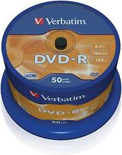 50er Pack Verbatim DVD-R 4,7 GB 16x Speed Rohling Spindel