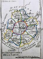 Sarthe en 1794 Sablé Fresnay Sillé Mamers Malicorne Vaas Mayet Parcé Vibray