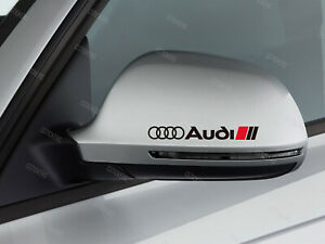 3 x Audi Stickers for mirror cover A1 A3 A4 A5 A6 S3 TT Q2 Q3 Q5 S-line S4 S5 B