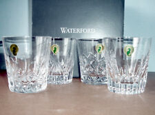 Waterford Distinctive Mixed Set/4 Double Old Fashioned Crystal Tumblers New