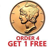 1 Ounce .999 Fine Copper Round - Mercury