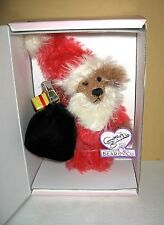 """Annette Funicello Bear Co """"Bear Claus"""" Mohhair 8"""" Bear Limited Edition NRFB"""
