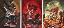 Red Sonja vs Thulsa Doom Card Set 3 Cards T1 T3 Breygent 2011