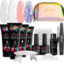 Astound Beauty Polygel Nail Kit with LED Lamp All-in-One Travel Kit