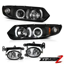 2006-2008 Honda Civic Coupe LX Halo LED Projector Headlights Driving Fog Pair