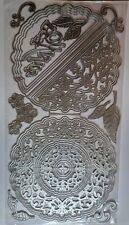 Ornate circle / twisted easel card shape  die set - best wishes - large die
