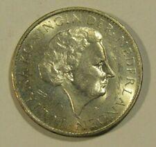 Suriname 1962 1 Gulden Silver unc Coin
