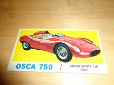 1961 Topps Sports Cars #19 Osca 750 EX Condition Vintage Trading Card / ITALY