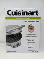NEW Cuisinart WAF-200 4-Slice Belgian Waffle Maker-round nonstick baking plates