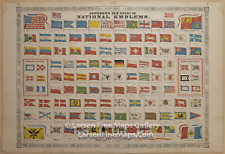 1866 Johnson's New Chart of National Emblems, Rare Atlas Map
