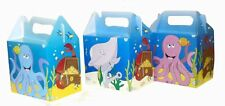 6 Sealife Party Boxes - Toy Loot Lunch Cardboard Gift Wedding/Kids
