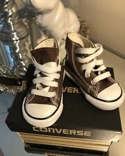 NEW CONVERSE CHUCK TAYLOR ALL STAR CANVAS HI TOP  Brown Infant Size 3