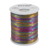 10x Embroidery Thread Metallic 180m Rainbow PK of 10 Sewing Craft Tool
