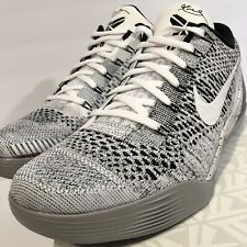 1e9505da3a2 Nike Zoom KOBE IX 9 ELITE LOW BEETHOVEN WHITE BLACK WOLF GREY 639045-101 sz