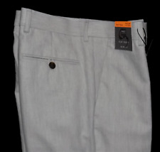 M/&S Linen Blend Trousers Light Stone Mens Regular Fit 46W 48W 31L NEW