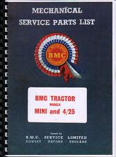 BMC MINI e 4/25 trattore meccanico Service Parts List
