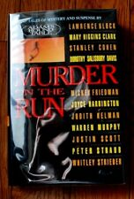 "SIGNED ""Murder on the Run"" by Adams Round Table Lawrence Block 1st Ed/Pr HC/DJB5"