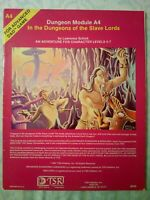 Dungeons and Dragons A4 In the Dungeon of the Slave Lords 1981 Good Condition