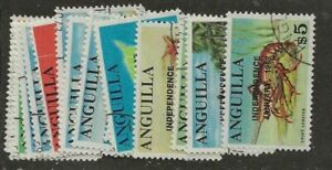 ANGUILLA SC# 53-67 USED STAMPS