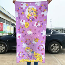 Disney Kids/Adult Princess Rapunzel Cotton Beach Bath Towel 120*60CM