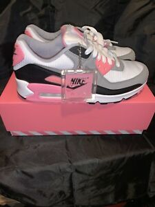 Nike Air Max 90 Rose White Particle Grey Black New Men's US 8 Running Pink