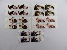 Bundesrepublik Mi 2402-2406 Viererblock aus Bogen -Ersttagsstempel -Katzen