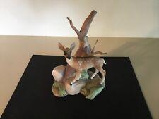 Rare Ba'lint Kramlik Porcelain Deer Sculpture