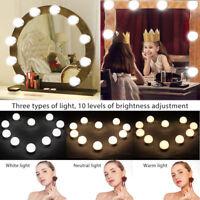 Hollywood stile 10 LED specchio vanity LUCI Kit per MakeUp Trucco Toletta Set