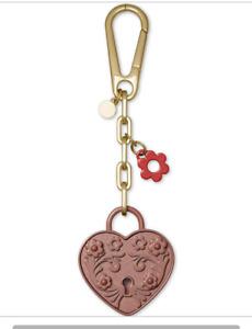 NWT Michael Kors Keychain Metal Heart Lock Charm Key Chain FOB (Rose) In  Box