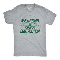 Mens Weapons Of Grass Destruction Tshirt Funny Golf Tee