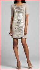 BCBG MAXAZRIA LEHANA CINDER COMBO SEQUINED SHIFT DRESS S NWT $348-RackT/66