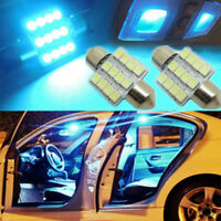 2Pcs Ice Blue 31mm 12-SMD LED DE3175 Bulbs For Car Interior Dome Map Door Lights