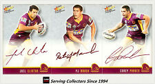 2009 Select NRL Champions Red Foil Printed Signature Team Set(3) Broncos