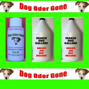 Dog Odor Gone - Industrial Strength Urine Pet Odor Remover 1oz Makes 2 Gallons