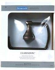 1 Amerock Clarendon Caramel Bronze Towel Ring Template & Hardware Pack Included
