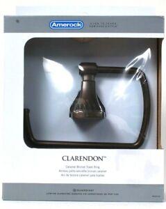 1 Amerock Clarendon Caramel Bronze Towel Ring Template & Hardware Pack Included