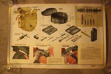 Old Rare Degtyarev Machine Gun - RPD - Russian Soviet Original Poster - 1965
