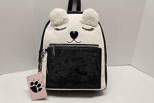 Betsey Johnson Bear Backpack Large School Travel Diaper bag furry ears NWT $98