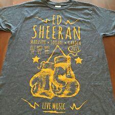 "Ed Sheehan Boxing Gloves Madison Square Gardens 2013 T Shirt Sz. M 18x28"""