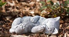 sculpture en pierre CHATS MINKA dormant Statue d'ornement de jardin