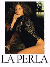 PUBLICITE ADVERTISING 094 1989 LA PERLA  sous vêtements body corset       010914