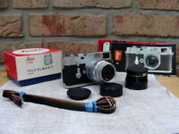 "Leitz Wetzlar - Leica M2 Kit Fat Tele Elmarit 2.8/90mm ""Serviceziert"" - Top!"