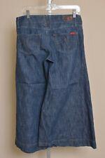 Level 99 Anthropologie Wide Leg Flare Culotte Jeans Dark Wash Denim Women's 30