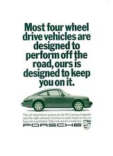 Porsche 911 Carrera Vintage Ad Art Print 13x19 Poster High Quality Gift Decor